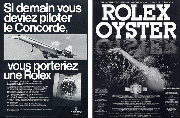 Publicités ROLEX