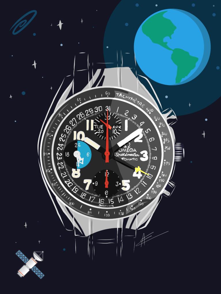 Watchoniste - dessin Omega